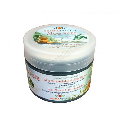 Crema anticelulítica efecto calor con Aloe Vera y sales del Mar Muerto. Cosmonatura