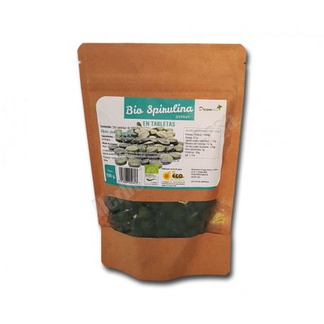 Espirulina Bio 300 comprimidos de 500mg. Dream Foods