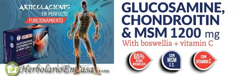 Glucosamina, Condroitina y Msm con Boswellia y Vitamina C. Nature Essential Complex Fórmula