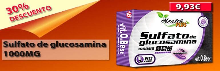 Sulfato de glucosamina 1000mg 60 cápsulas - Health PLUS