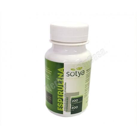 Espirulina 200 comprimidos de 400mg. Sotya