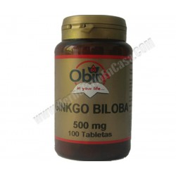 Ginkgo Biloba extracto seco 500mg 100 comprimidos. Obire