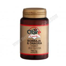 Borraja y Onagra + Vitamina E 500 mg 110 perlas. Obire