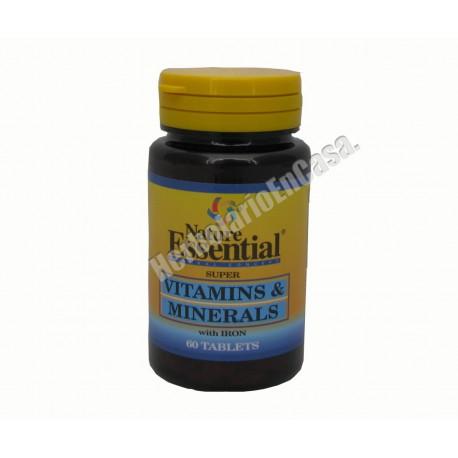 Vitaminas y minerales con hierro 60 comprimidos Nature Essential