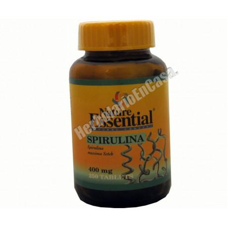 Espirulina, alga spirulina - 250 comprimidos 400mg Nature Essential