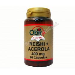 Reishi + Acerola 90 cápsulas. OBIRE. Vitamina C natural
