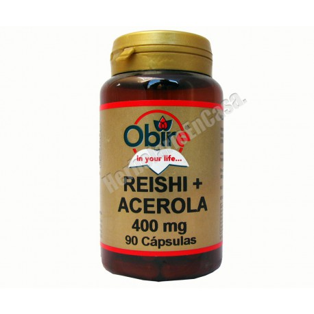 REISHI + ACEROLA 400mg. 90 capsulas. Vitamina C natural