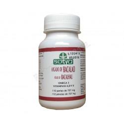 Perlas aceite de hígado de bacalao. Omega 3 y vitaminas A,D y E. Sotya
