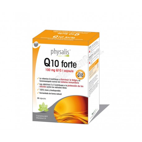 Q10 (100mg) forte + Vitamina C y E - 30 cápsulas - Physalis