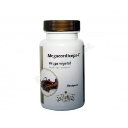 Oruga Vegetal (Cordiceps Sinensis) MegaCordiceps C- 60 Cápsulas Jellybell