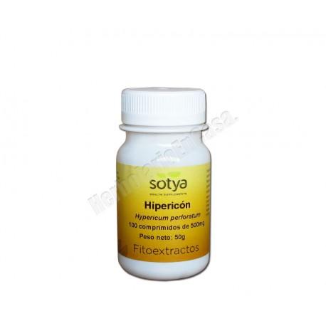 Hipericón (hypericum perforatum) 100 comprimidos. Fitoextractos. Sotya