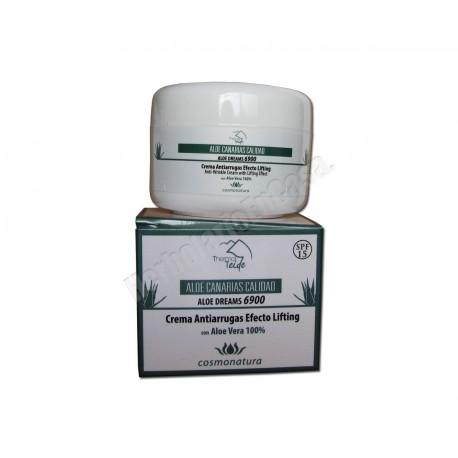 Crema Antiarrugas Efecto Lifting con Aloe Vera 100%. Cosmonatura