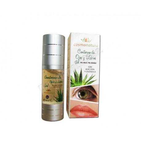 Contorno de Ojos y Labios en gel. Piel grasa y sensible. Cosmonatura Ib Cosmetics