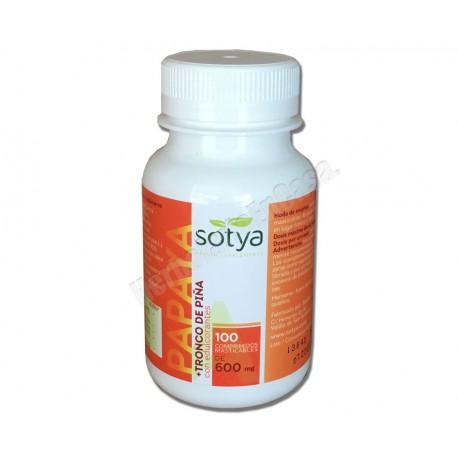 Papaya + Tronco de Piña 100 comprimidos masticables. Sotya