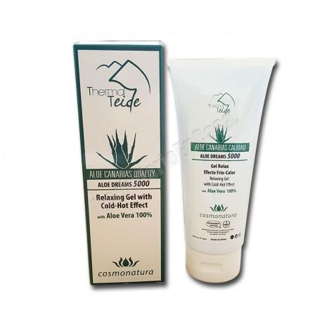 Gel relax efecto frío - calor con Aloe Vera 100% 200ml. Thermal Teide