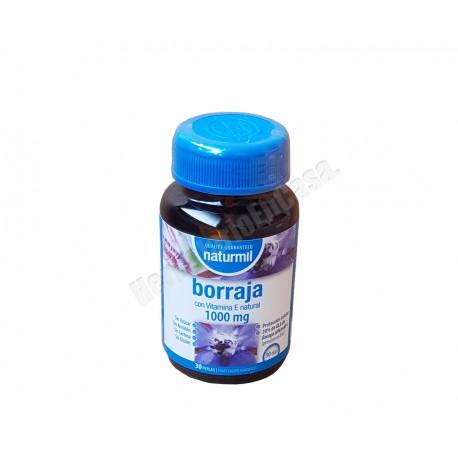 Borraja con vitamina E natural 1000mg 30 perlas. Dietmed Naturmil
